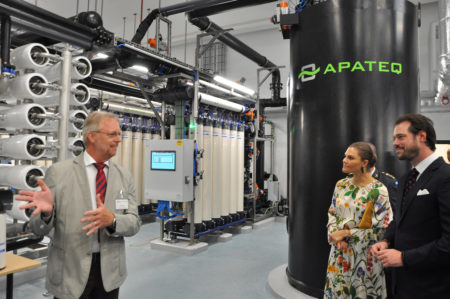 Inauguration of APATEQ water treatment plant, Mörbylånga, Sweden
