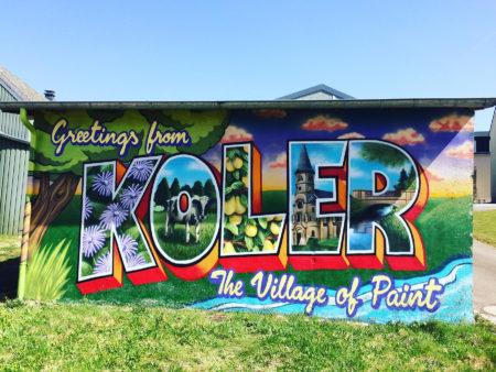 Make Koler kooler mural, Kahler, Luxembourg