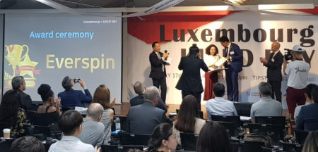 Everspin, winner of Luxembourg start-up pitching session in Seoul