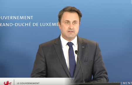 Luxembourg Prime Minister Xavier Bettel presents a massive economic stabilisation programme