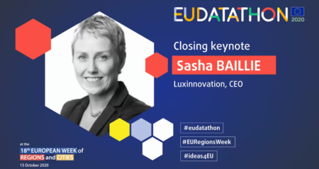 Sasha Baillie speaks at 2020 EU Datathon