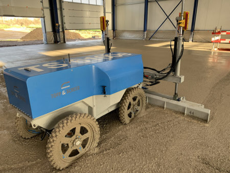 The world's first electric screed by Topp & Screed