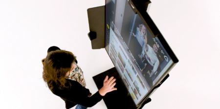 Samsung Electronics France and Luxembourg-based iNUI Studio have recently released a touchless interactive kiosk solution