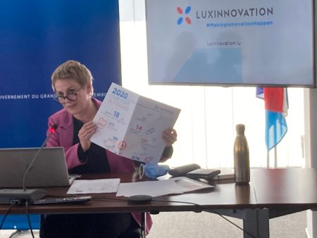 Sasha Baillie, CEO of Luxinnovation, presents the 2020 Annual Report