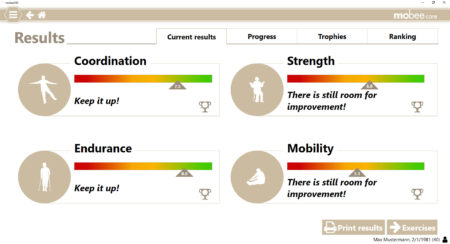 mobee care assesses the fitness level of seniors