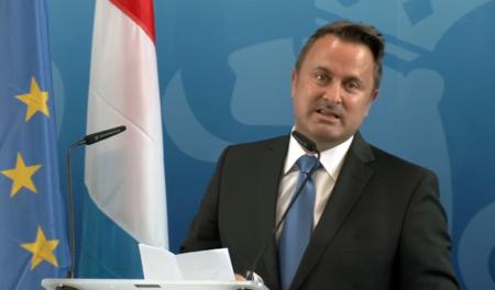 Prime Minister Xavier Bettel speaks at the inauguration of MeluXina