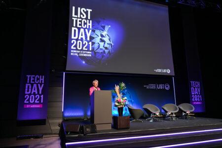 Luxinnovation CEO Sasha Baillie speaks at LIST Tech Day