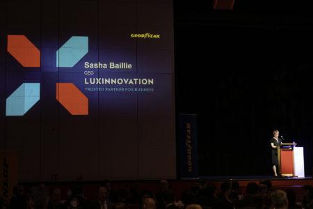 Luxinnovation CEO Sasha Baillie speaks at Goodyear Patent Dinner 2019
